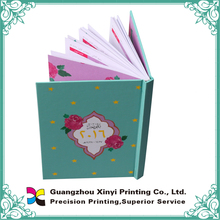 China manufacturer customized notebook printing wholesale with certificate
