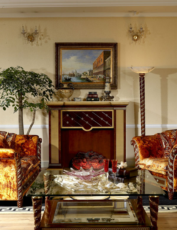 Royal Living Room Design: Italian Design Wood Carving Living Room Royal Furniture