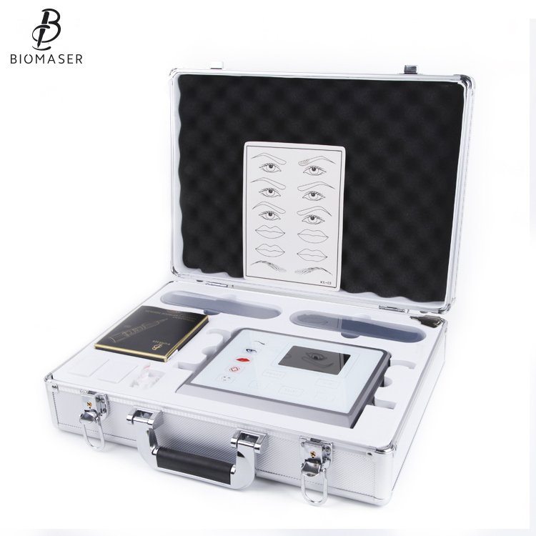 BIOMASER P1 Перманентный макияж машины комплект устройства включают в себя цифровой блок питания для перманентного макияжа