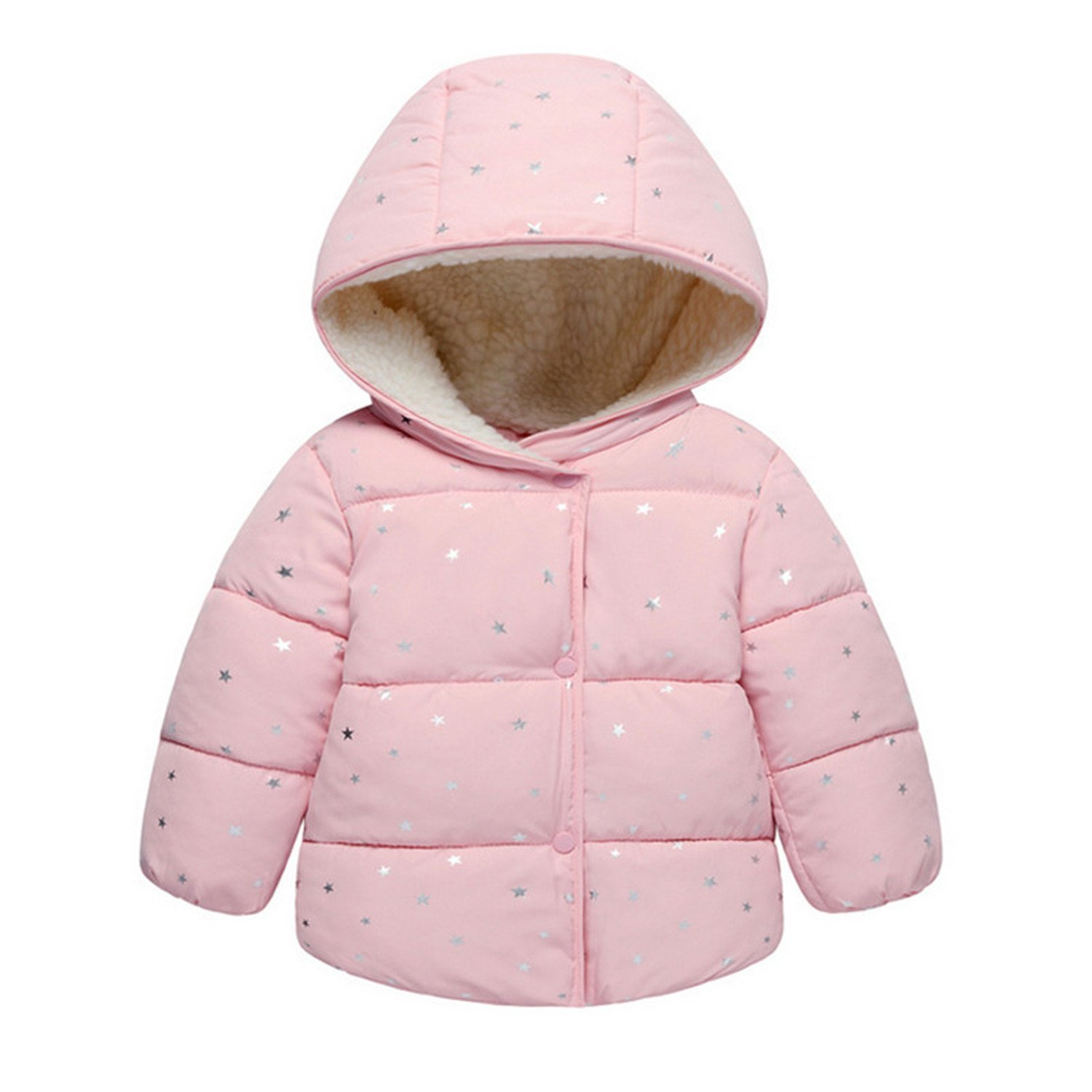9351f53ba Cocainat Baby Girls Jacket Autumn Winter Jacket for Girls Coat Kids Warm  Hooded Outerwear Children Clothes