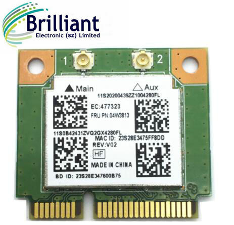 For Realtek RTL8723BE 300M 802.11b/g/n Bluetooth 4.0 04W3813 MINI PCI Express Network Card for E540 E440 S440 S540
