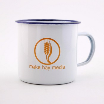 Personalised Drink Order Enamel Mug Printed Mugs Cup