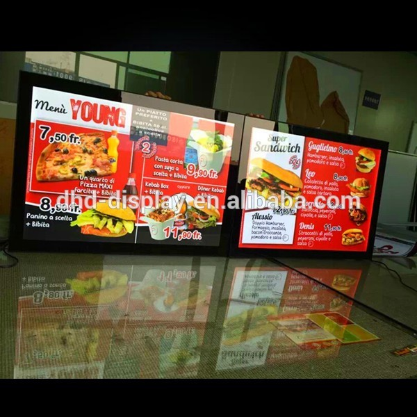 Fast Food Restaurant Advertising Snap Open Aluminum Led