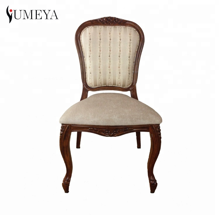 Hotel french style cafe restaurant seating wood <strong>grain</strong> stacking upholstered dining chair