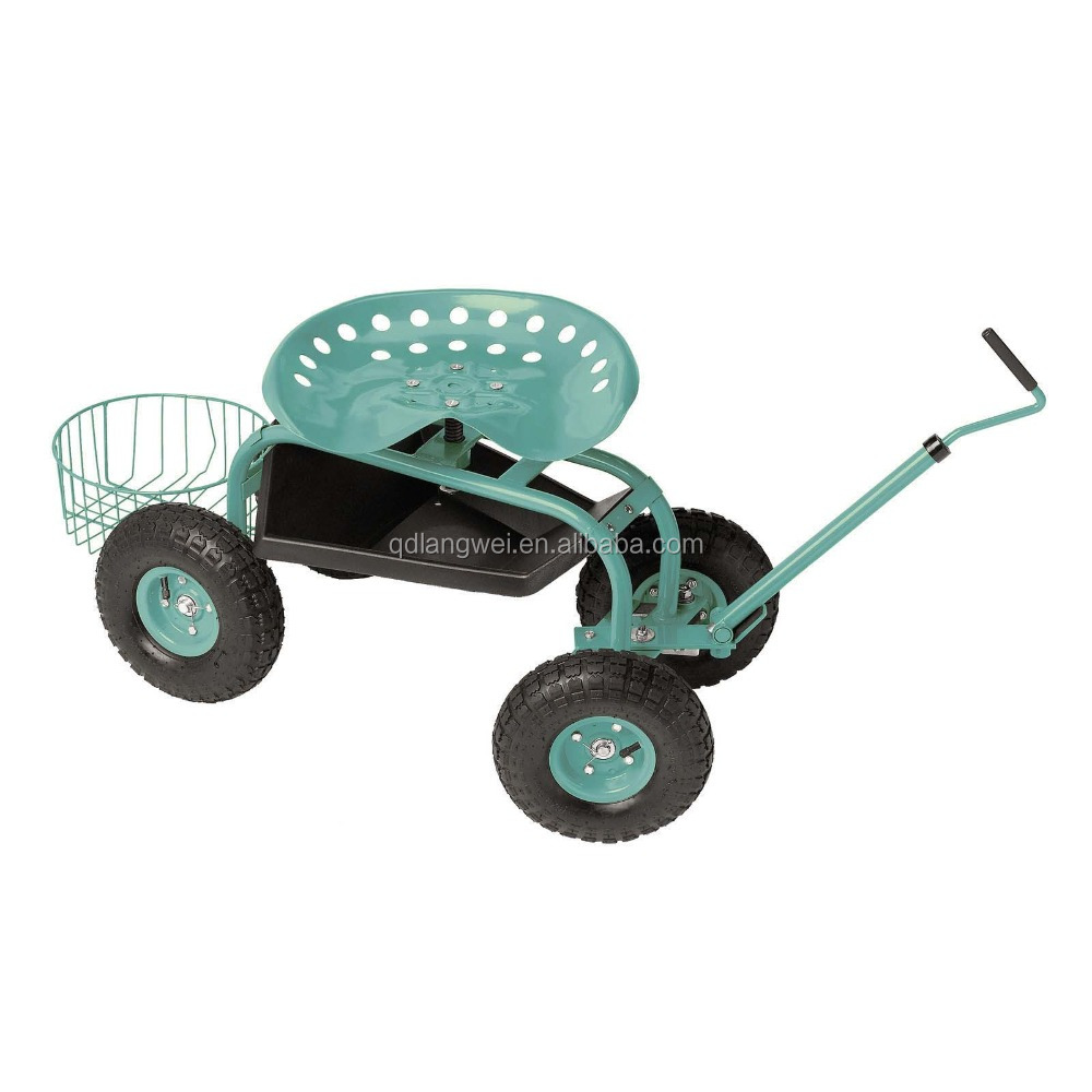 Exceptionnel Wheeled Garden Seat Hopper Gardening Work Cart Tool Storage Rolling Stool  Wagon   Buy Rolling Stool Wagon,Used Garden Wagon Cart,Heavy Duty Wagon  Cart ...
