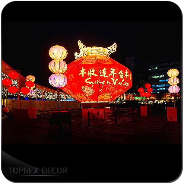 Chinese led lantern decoration new year lights