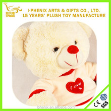 Plush Toy Bear With Logo Printed T-shirt Valentine Gift