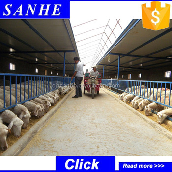 China Steel Structure Poultry Farm House Design Of Cow Goat Sheep Shelter