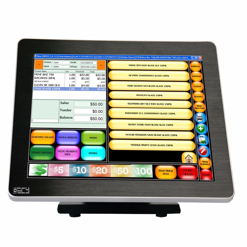 "17"" touchscreens the Breeze Performance All-In-One POS Touchscreen System"