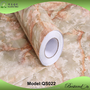 Anti-scratch coating No Methanal Marble PVC self adhesive Foil