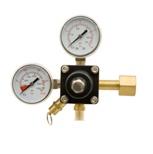 Nitrogen and CO2 gas pressure regulator for coffee and beer