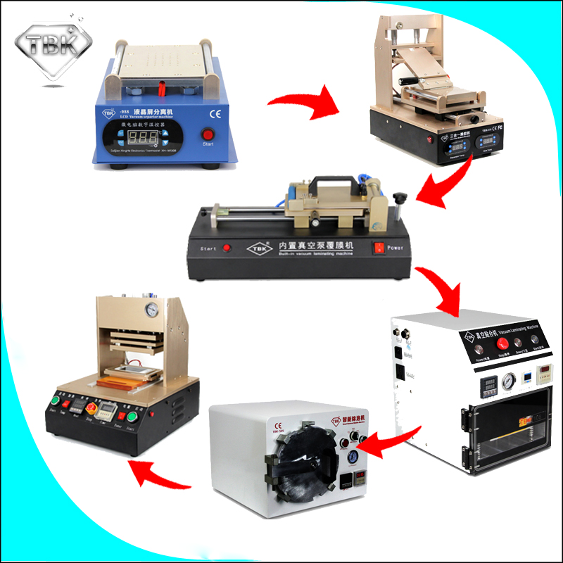 Saving Money Saveing Time LCD Repair Machine with built-in Vaccum pump Auto-Laminating +Remove bubble