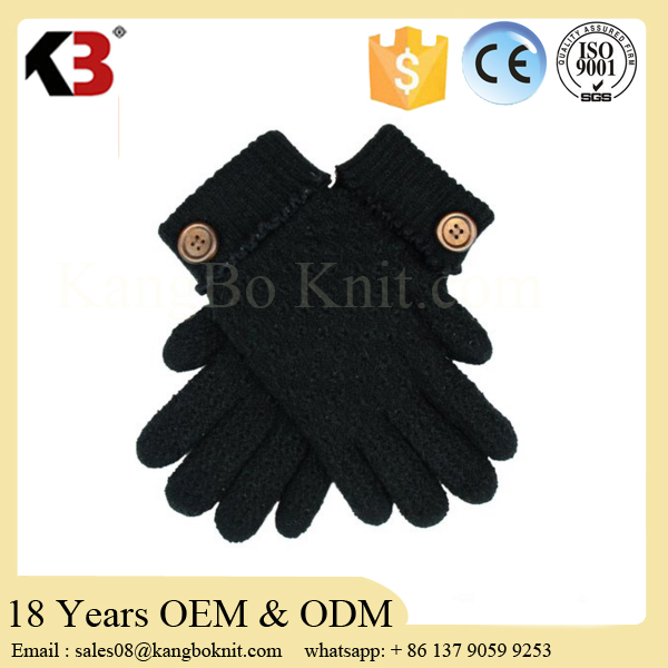 Promotional acrylic thinsulate knitted ski gloves with custom logo
