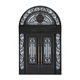 Villa decoration front entry double wrought iron arch door church iron door design