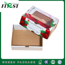 Cheap advertising tote custom paper window box packaging,cherry Paper Fruit Packaging