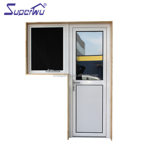 Half aluminum ceramic fritted glass front door designs for privacy