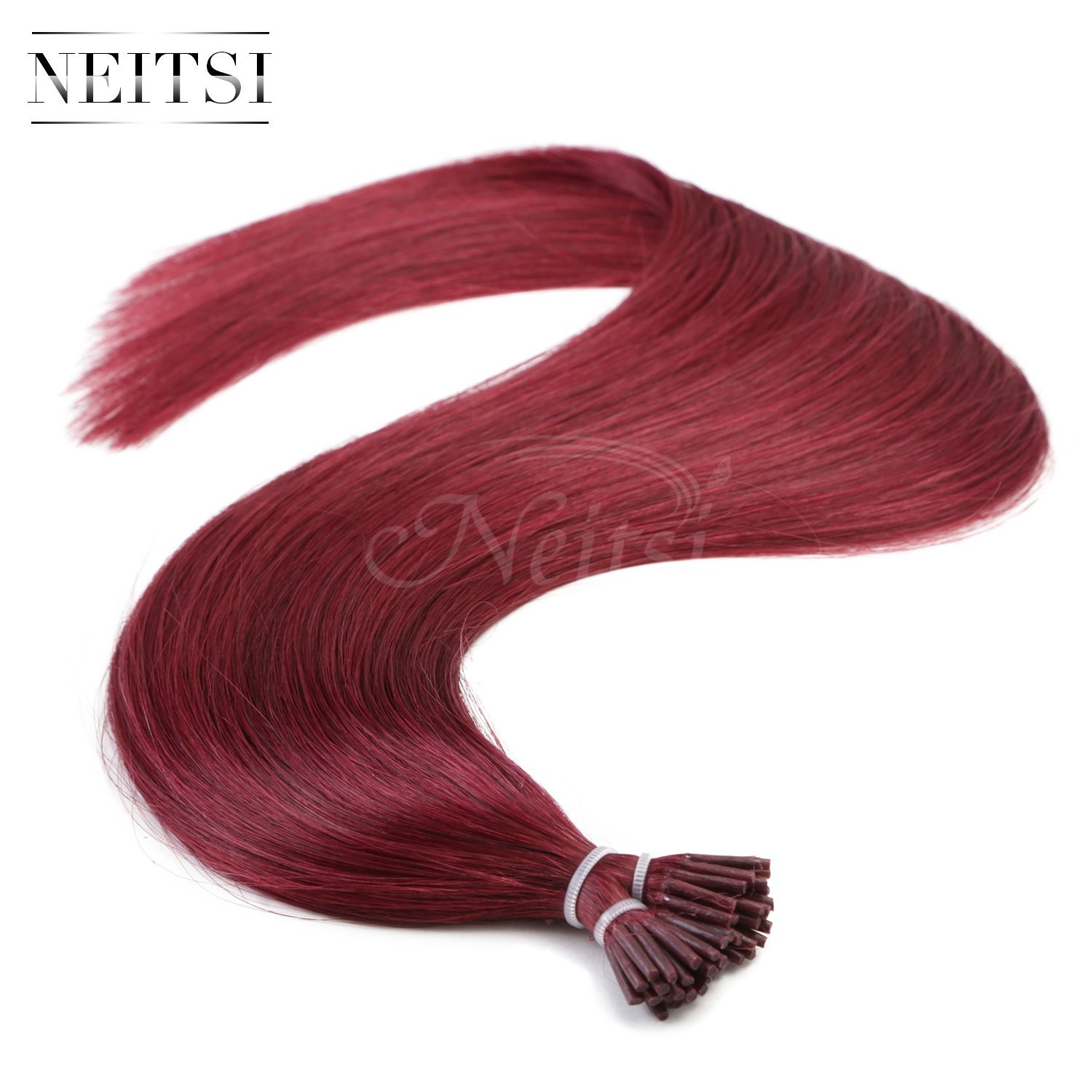 "Neitsi 20"" 1g/s 25s/lot Fusion Glue I Tip/Stick Remy Human Hair Extensions (530#)"