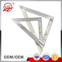 Wholesale High Quality 15CM 20CM Stainless Steel Right Measuring Tool Triangle Spirit Level Ruler
