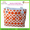 Orange And White Graphic Summer Pool Bag Swim Bag Large Beach Bag