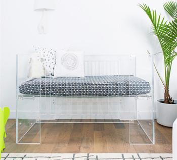 2016 Acrylic Baby Crib Modern Design Custom Acrylic Crib