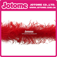Cheap Red Hot Pink Black White Ostrich Feather Boas Decorations