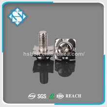 Electric Appliance Fastener DIN7985 Stainless Steel Pan Head SEMS Screw With Square Washer