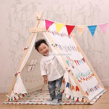 100% Coton Toile Enfant Tente Enfant Tente Jouet Maison Tente ...