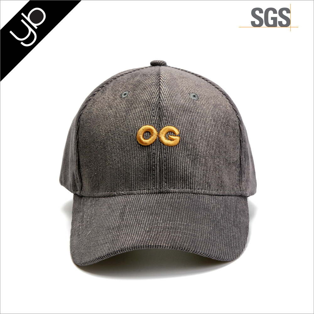 Wholesale Embroidered Promotion Corduroy Custom Baseball Cap Hat,Promotion Cheap Custom Sport Cap
