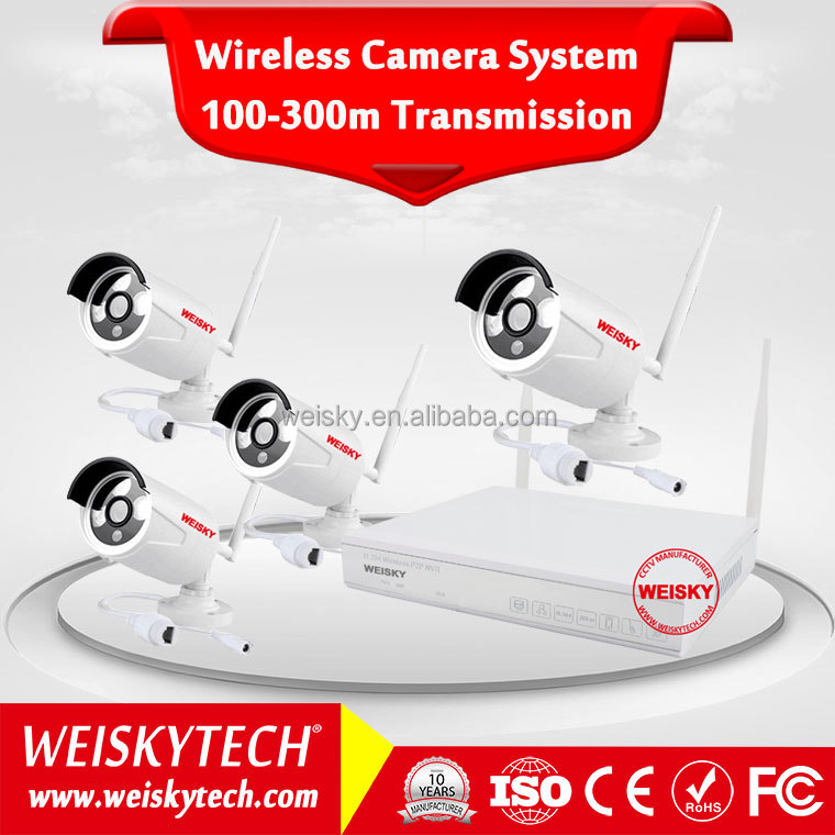 Weisky Cloud p2p automatic connection cctv camera price list dvr recorder wifi kit for home security system