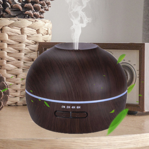 300ml aromatherapy led lights air humidifier humidificateur aroma diffuser with clock