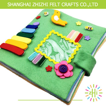 Hot Sale Popular Childrens Soft Fabric Handmade Educational Book