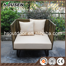All Weather Fashion Garden Outdoor Rattan Furniture double Sofa SF-1730