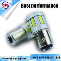 Auto parts seko new design high power 1156 1157 12w 2835 24smd car led auto bulb