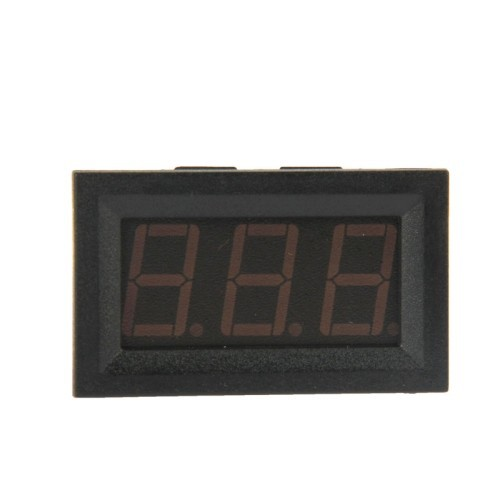 Black High Quality V27D-T1 3.2V-30V LED Digital Display Voltmeter