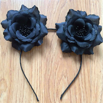 Beautiful Black Rose Flower Hair Band For Women Girls - Buy Black Rose Hair  Band,Flower Hair Band For Women,Flower Hair Band For Girls Product on