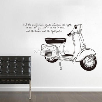 Motorcycle Decorative Home Decor Wall Stickers Buy