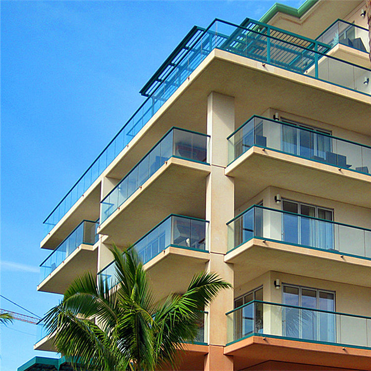 Balcony Aluminum Glass Railing Design
