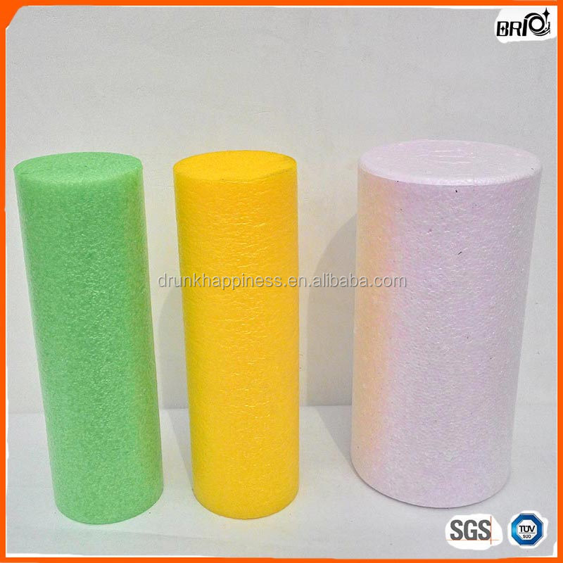 3.9 Inches Dia High Density EPE Foam Roller for Deeper Massage, Mix Colors