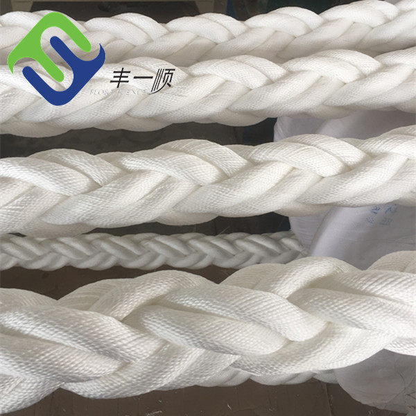 High tensile 8 strand 56mm x 220m polypropylene/polyester mixed rope, composit rope