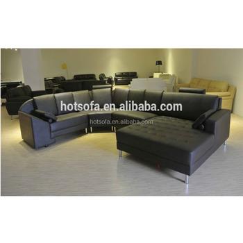 C236 French Furniture Latest Corner Sofa Design Round Module Leather