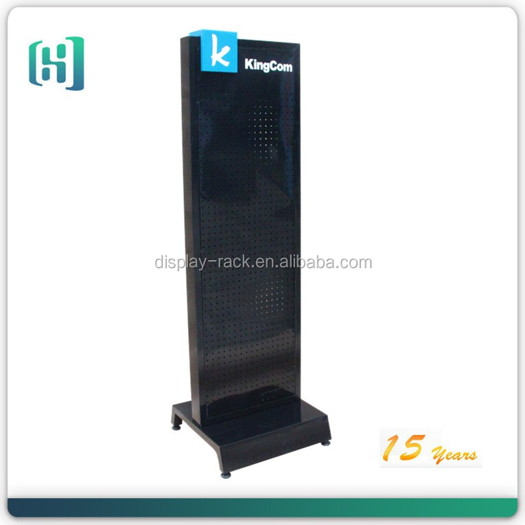 double side floor display stand for mobile accessories/cell phone accessory display rack/cell phone accessory display
