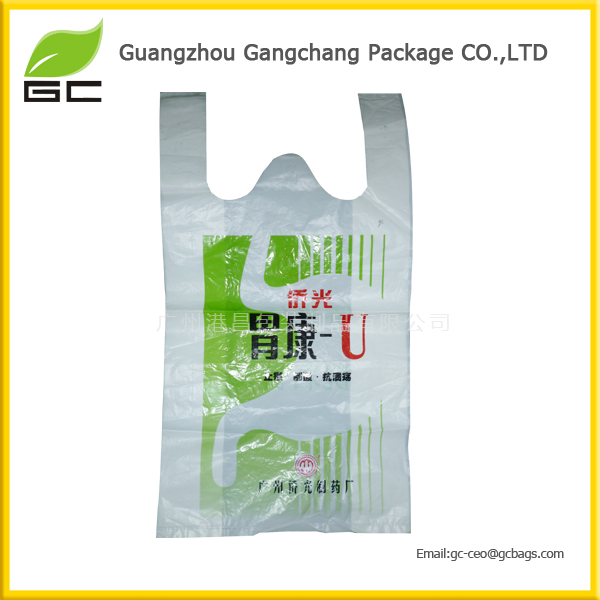 Well sealed experienced manufactory customized HDPE/LDPE printed T shirt bag plastic shopping bag for grocey
