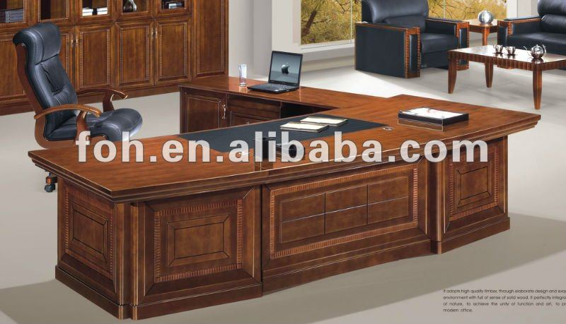 Luxury large executive desk wooden office desk foh buy