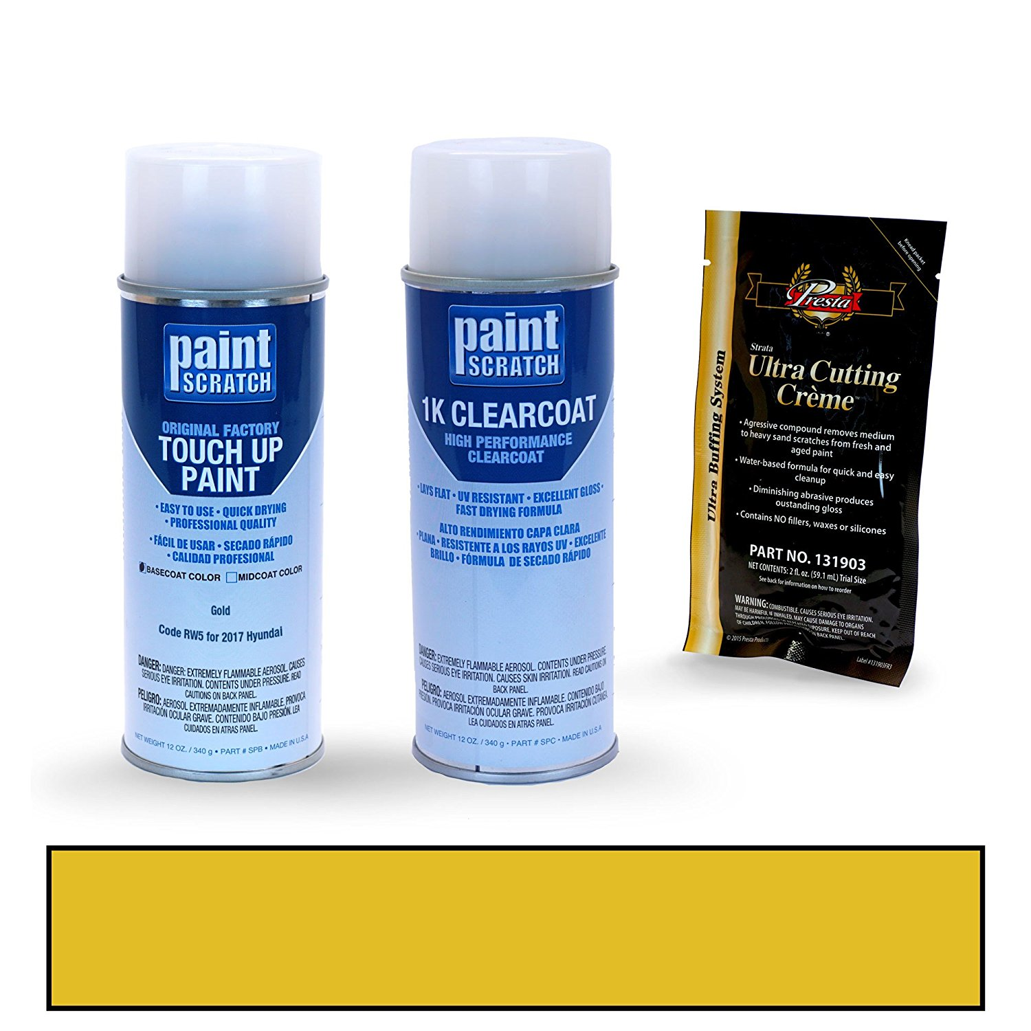 Get Quotations · 2017 Hyundai Elantra Gold RW5 Touch Up Paint Spray Can Kit  By PaintScratch   Original Factory