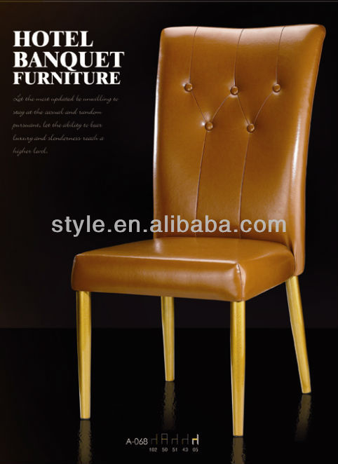Bedroom A-068 PU leather cheap aluminium chairs use for coffee ,restaurant, hotel