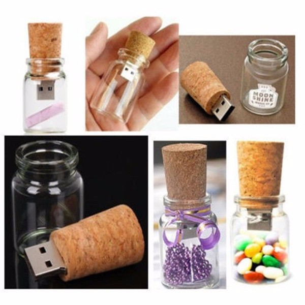 Popular Gift usb disk Custom 3D Logo Inside Crystal Wood USB 2.0 Flash Drive Memory Stick