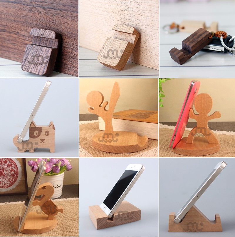 Handy mini walnut bathroom phone holder,custom wood phone holder