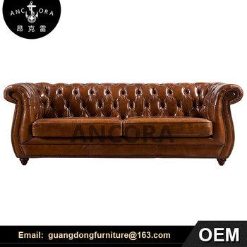 Cushion Miami Leather Vintage Industrial Sofa A117 - Buy Vintage Industrial  Sofa,Miami Leather Sofa,Cushion Leather Sofa Product on Alibaba.com
