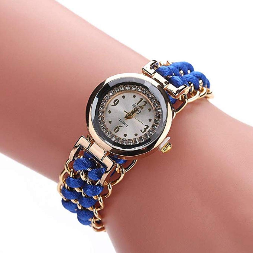 Big Promotion! Windoson Women Quartz Watches Clearance Analog Ladies Watches Girl Watches Leather Female Watches (Blue)