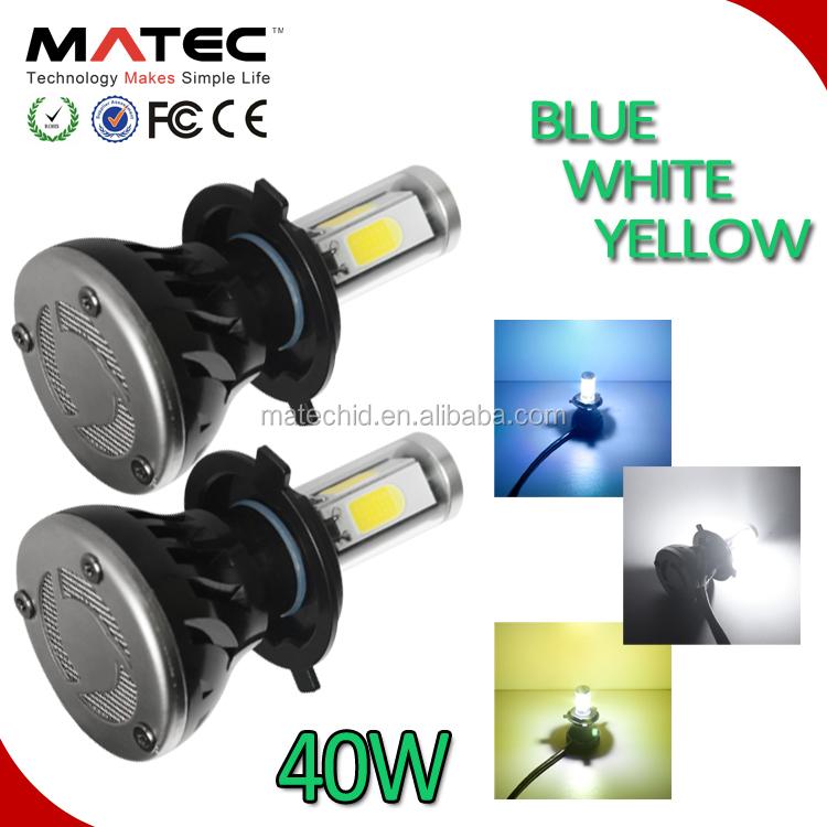 Car Led Bulb 40w 80w Cob G5 Led Headlight H4 H7 9004 9007 9008 ...